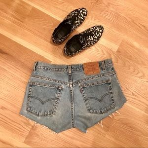 Levi's 505 Vintage High-Rise Cutoff Shorts